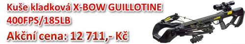 Akční cena: KUŠE KLADKOVÁ X-BOW GUILLOTINE 400FPS/185LB za 13 885,- Kč